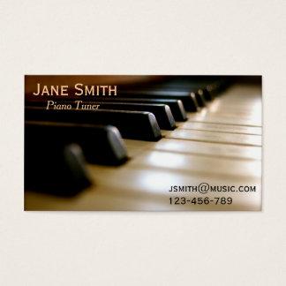 Profesional independiente de la música del tarjeta de visita