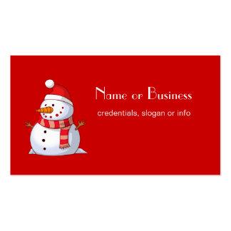 Profesional lindo del muñeco de nieve del navidad tarjeta de negocio