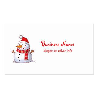 Profesional lindo del muñeco de nieve del navidad plantillas de tarjeta de negocio