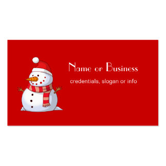 Profesional lindo del muñeco de nieve del navidad tarjetas de visita