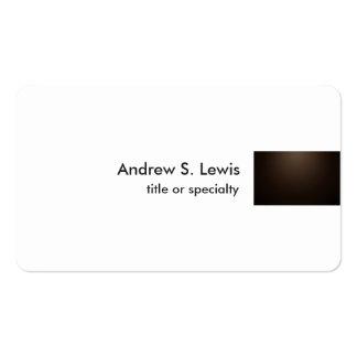 Profesional llano único moderno blanco de la tarjetas de visita