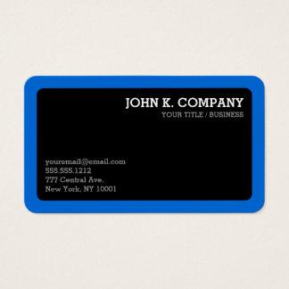 Profesional mínimo redondeado del negro azul de la tarjeta de visita