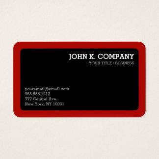 Profesional mínimo redondeado del negro rojo de la tarjeta de visita