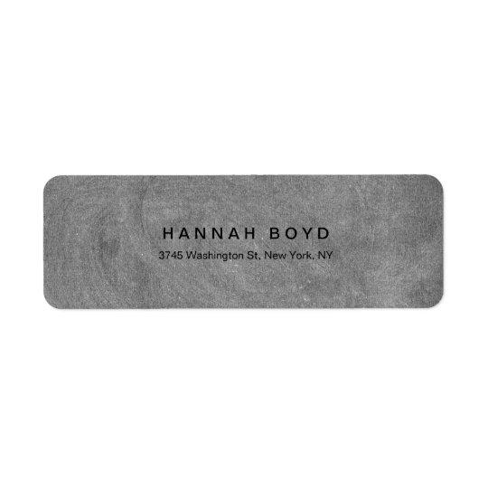 Profesional moderno de la pizarra gris creativa etiquetas de remite