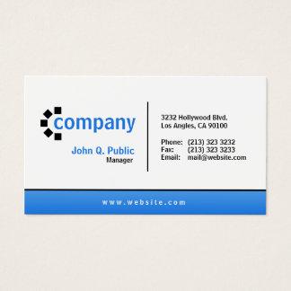 Profesional moderno simple de la parte inferior tarjeta de visita