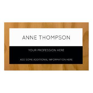 profesional negro y de madera, con clase y tarjetas de visita
