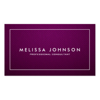 Profesional púrpura y blanco elegante y moderno tarjetas de visita