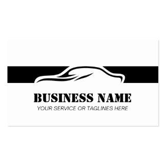 Profesional rayado del negro automotriz de la tarjetas de visita