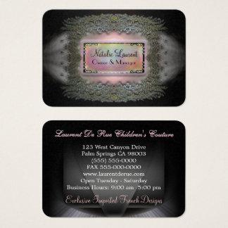 Profesional redondo elegante del borde de tarjeta de visita