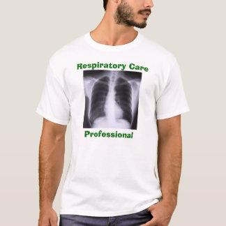 Profesional respiratorio del cuidado camiseta