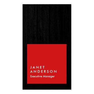 Profesional rojo de madera gris moderno vertical tarjetas de visita