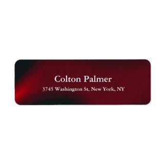 Profesional rojo oscuro moderno elegante elegante etiqueta de remite