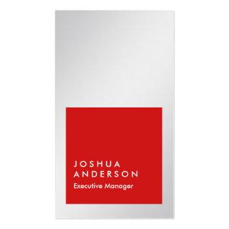 Profesional rojo vertical del gris de plata tarjetas de visita