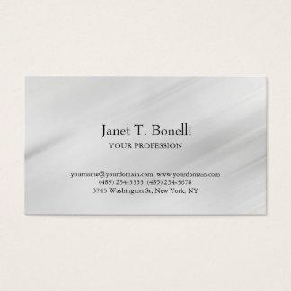 Profesional simple llano elegante del fondo gris tarjeta de negocios