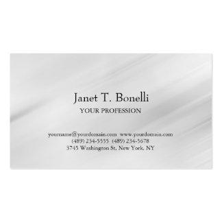 Profesional simple llano elegante del fondo gris tarjetas de visita