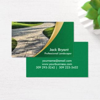 Profesionales del paisaje tarjeta de negocios