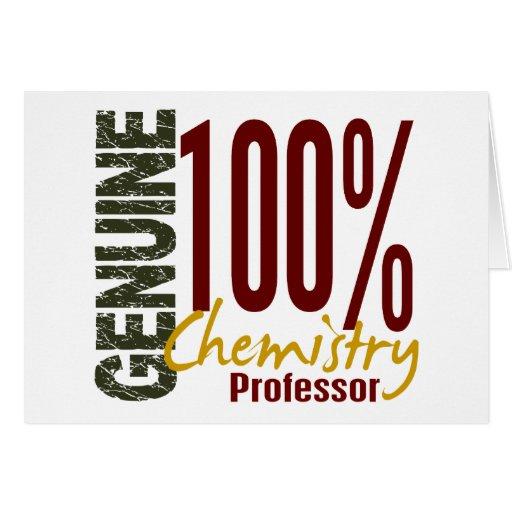 Profesor auténtico de la química tarjeton