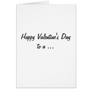 Profesor con la tarjeta del día de San Valentín