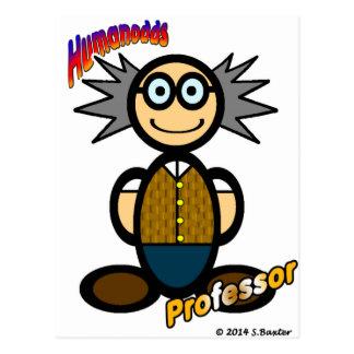 Profesor (con los logotipos) postal