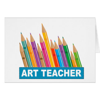 Profesor de arte tarjeta de felicitación