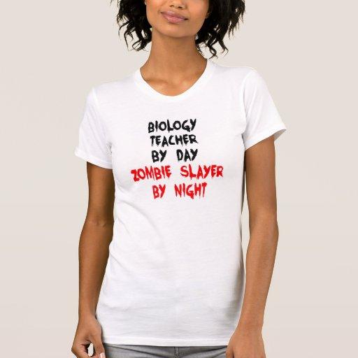 Profesor de biología del asesino del zombi camiseta