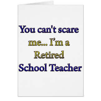 Profesor de escuela jubilado felicitación