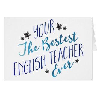 Profesor de inglés divertido de Mispelled Bestest Tarjeta De Felicitación