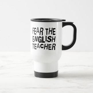 Profesor de inglés divertido taza de viaje