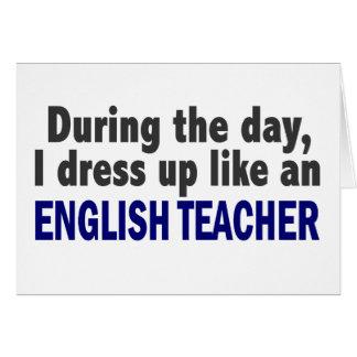 Profesor de inglés durante el día tarjetón