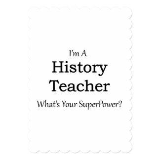 Profesor de la historia invitación 12,7 x 17,8 cm