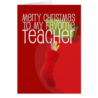 Profesor de las Felices Navidad Tarjeta De Felicitación