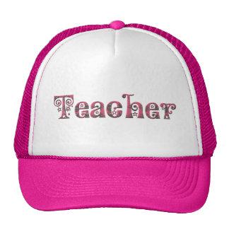 Profesor de lujo de la fuente en rosa gorros