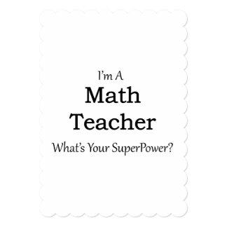 Profesor de matemáticas invitación 12,7 x 17,8 cm