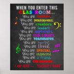 Profesor de música - cuando usted incorpora reglas póster