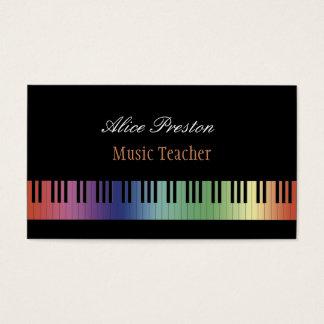 Profesor de música el | colorido tarjeta de visita