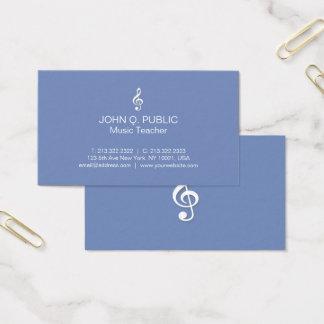 Profesor de música profesional moderno llano tarjeta de visita