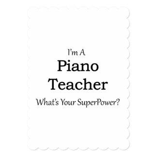Profesor de piano invitación 12,7 x 17,8 cm