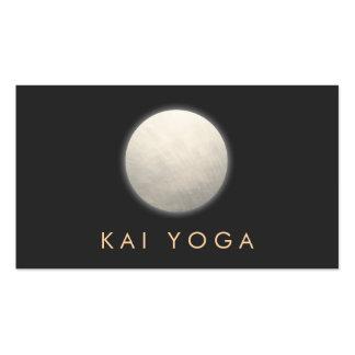 Profesor de plata de la yoga y de la meditación tarjetas de visita