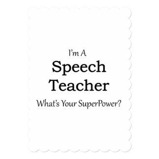 Profesor del discurso invitación 12,7 x 17,8 cm