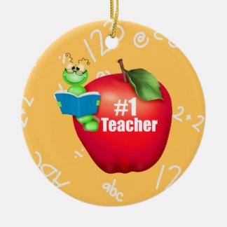 Profesor del número uno ornamento para arbol de navidad