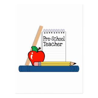 Profesor del preescolar (cuaderno) tarjetas postales