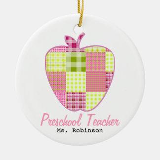 Profesor del preescolar de Apple de la tela Adorno Redondo De Cerámica