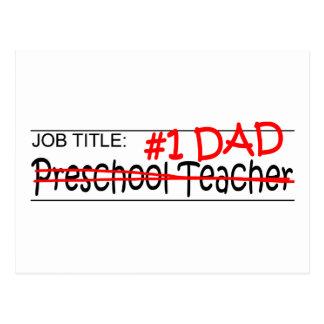 Profesor del preescolar del papá del trabajo tarjeta postal