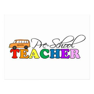 Profesor del preescolar postales