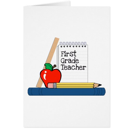 Profesor del primer grado (cuaderno) tarjetón