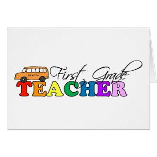 Profesor del primer grado tarjetas