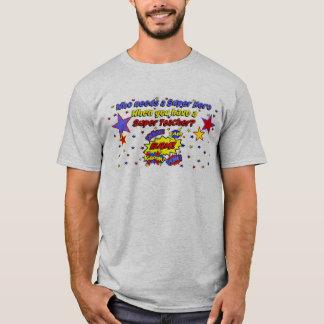 ¡Profesor del superhéroe!  ¡BAM! Camiseta