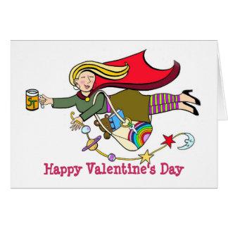 Profesor estupendo del el día de San Valentín feli Tarjetas