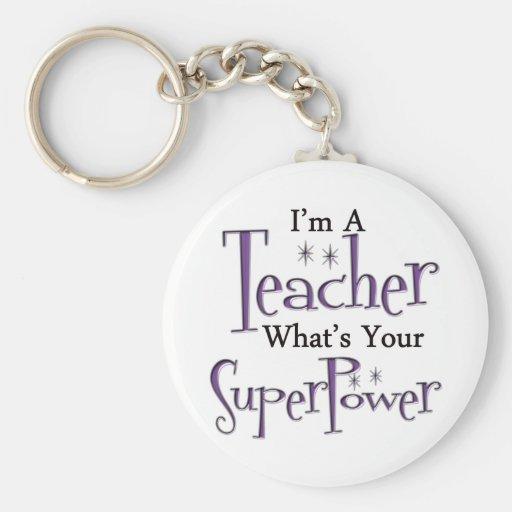 Profesor estupendo llaveros personalizados