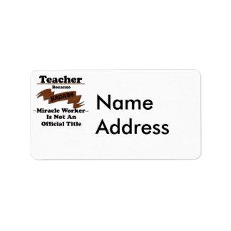 Profesor Etiqueta De Dirección